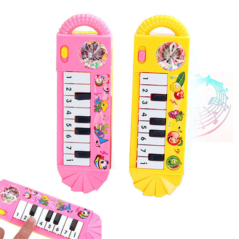 1Pc Mini Baby Playing Keyboard Baby Kids Piano Music Developmental Educational Cartoon Cute Toy 2016 New Arrival New(China (Mainland))