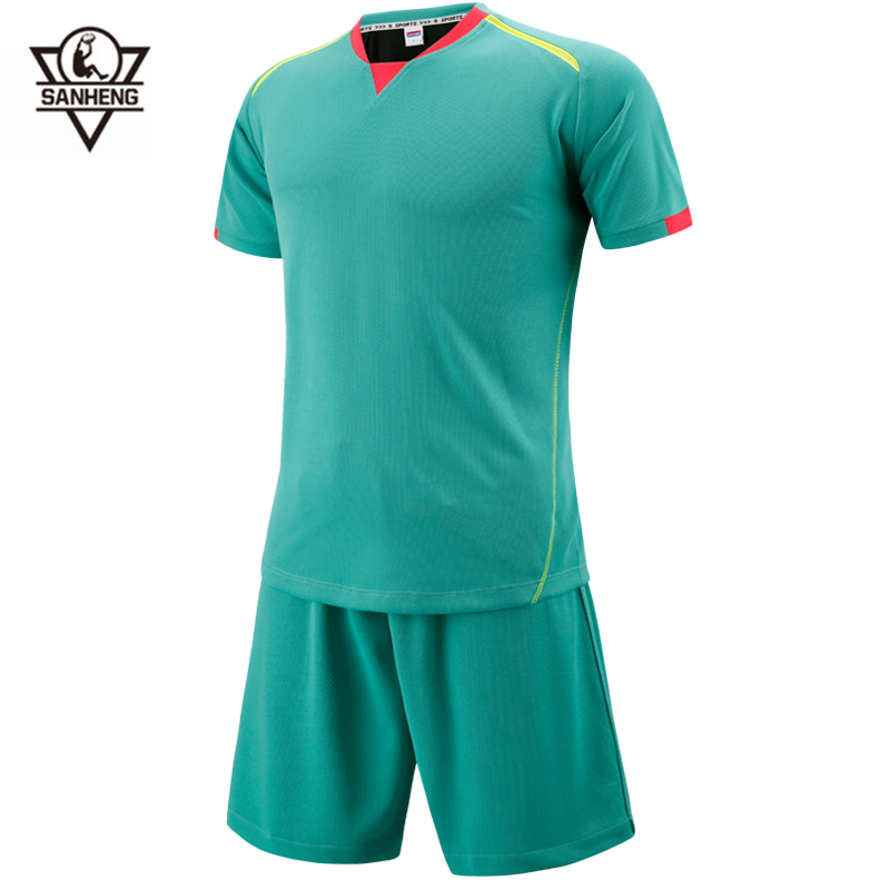 2016 New Professional Survetement Soccer Jersey Sets Brand SANHENG Breathable Short Football Jersey SH368(China (Mainland))
