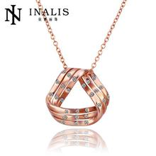 N634 High Quality Women Necklace Rhinestone 18K Gold Austrian Crystal Pendant Necklace Jewlery Vintage Statement collar