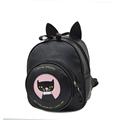 Fashion Cat s Ears Lovely Backpack Women Cartoon Print Small Bag Korean Trend Preppy Style Fashion