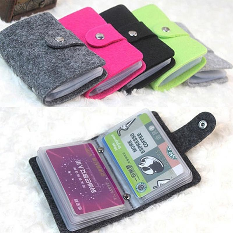 Free Shipping New Fashion 24 Bits Useful Business Credit Card Holder PU Leather Buckle Cards Holders Organizer Manager For Women(China (Mainland))