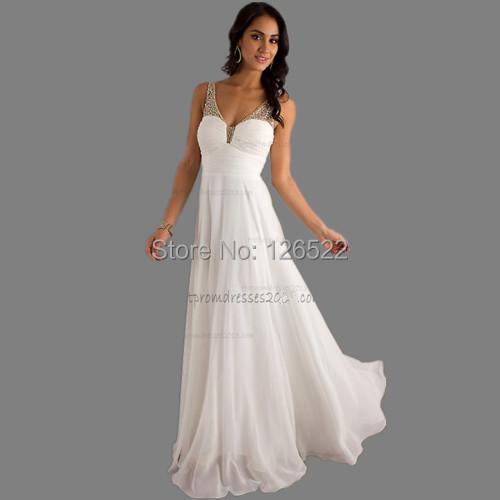 Free Shipping Long Evening Dresses 2014 New Arrive !! Cheap Long Chiffon Beaded Ruffle Off Shoulder Evening Dress(China (Mainland))