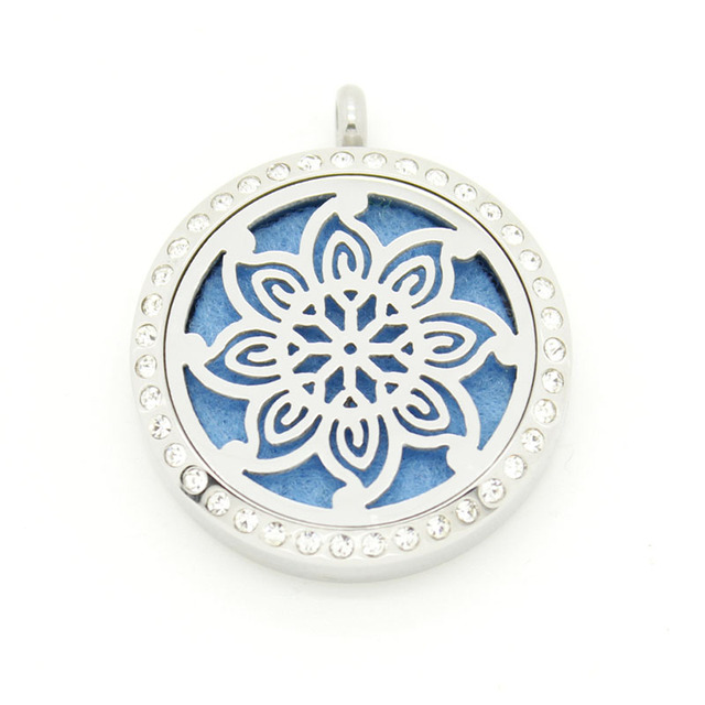 With chain as gift! wholesale 30mm magnetic silver 316L stainless steel essential oils perfume diffuser locket necklace