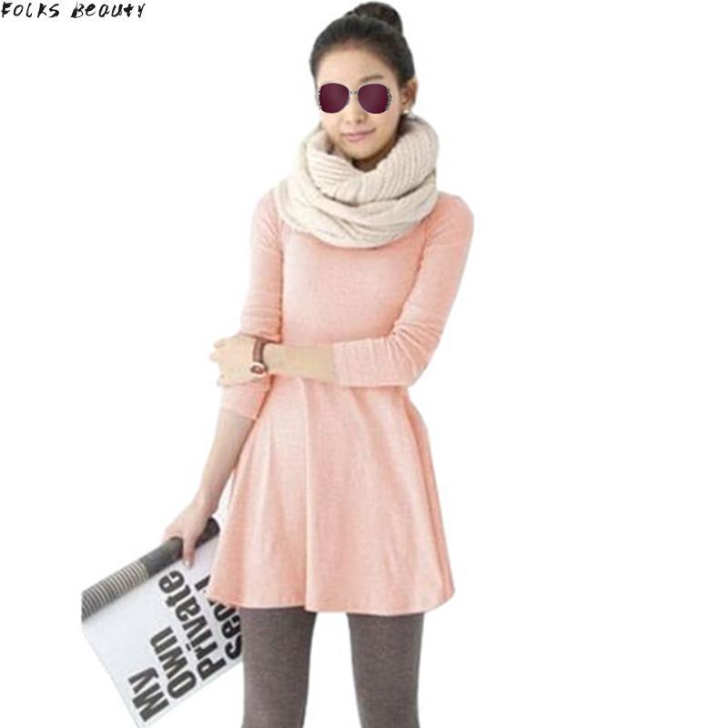 2015 New Fashion Clothes Women Dress 100% Cotton Autumn Winter Dress Female Long Sleeve Dress O-Neck Woolen Dresses(China (Mainland))