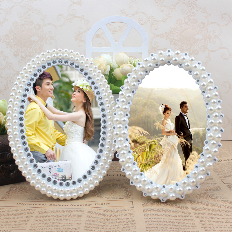 Korean version of the 6 -inch photo frame swing sets wedding personalized home decor minimalist living room image