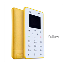 New arrival Ultra Thin AIEK/AEKU X6 Mini Cell Card Phone slim thin phone Student unlocked small mobile phone pocket phone M5(China (Mainland))