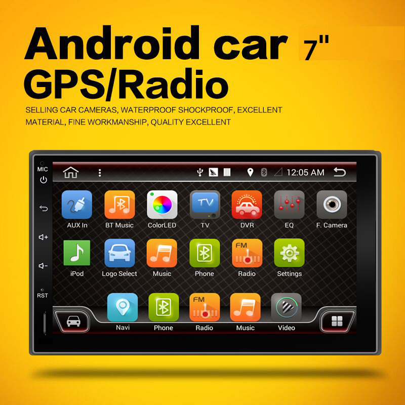 2017 2din Android 4.4 car pc Capacitive universal GPS+Wifi+Bluetooth+Quad 4 Core CPU+DDR3 +12GB Flash audio Free camera(China (Mainland))