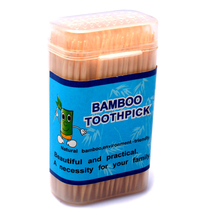 2015 New 6 pack/lot bamboo toothpick Disposable Eco-Friendly  Toothpick  Fruit Sticks Kitchen,Dining  Items QT691(China (Mainland))