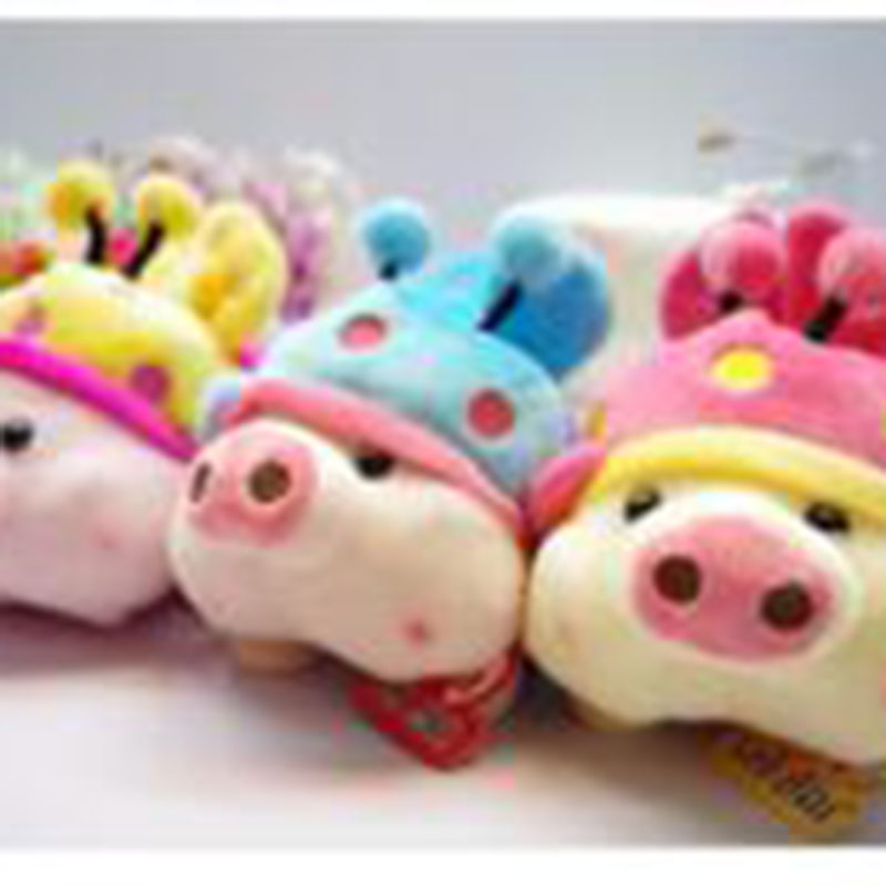 Hot Child Bees Pig Piglet Plush Toy Doll Dolls Put The Phone, Put The Remote Control Lovers Gifts Free Shipping(China (Mainland))