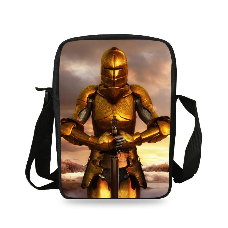 Cool Mini Character Messenger Bag For Children Boys Girls Warrior Print Shoulder Bag For Kids School Valiant Men Shoulder Bag(China (Mainland))