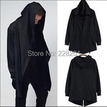 Original design male sweatshirt spring and autumn medium-long with a hood cardigan mantissas cloak thin(China (Mainland))