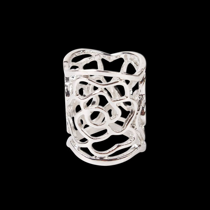Elegant Design Hollow Gold&Silver Plated Brooches Shawl Scarves Scarf Buckle Ring Clips For Women Gift