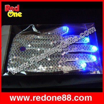 20 piece/lot LED right Gloves Light Show for party light show fingers multicolor,(China (Mainland))
