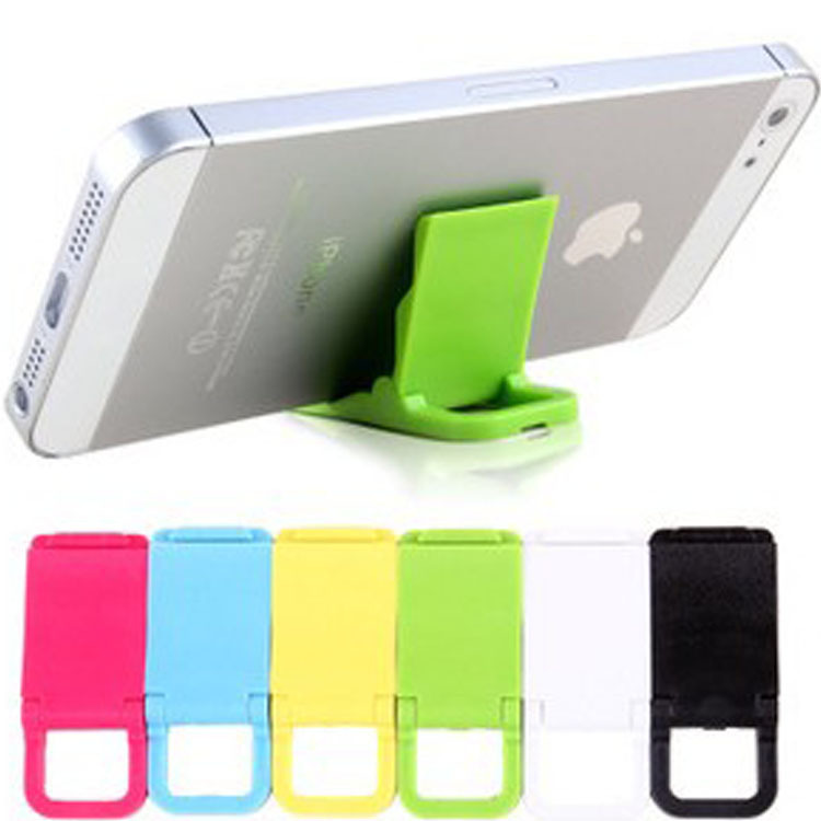 Colored plastic mini phone stands Portable Adjustable cell phone holder For iPhone 4 5s universal Foldable mobile phone holder(China (Mainland))