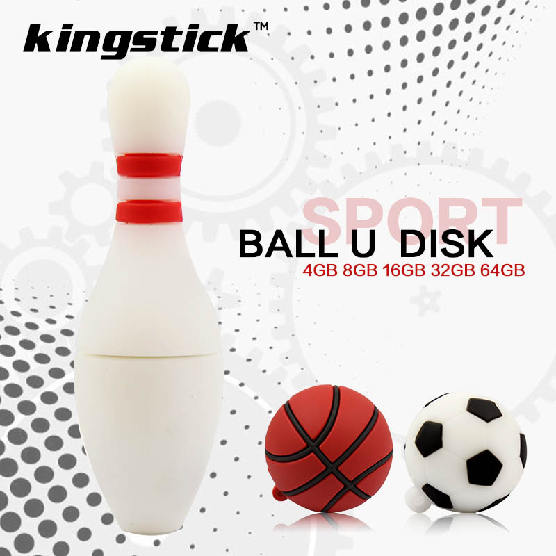 New arrival Pendrive 32GB 64GB Football Basketball Bowling USB Flash Drive 4gb 8gb 16gb pen drive USB 2.0 Memory Stick U Disk(China (Mainland))