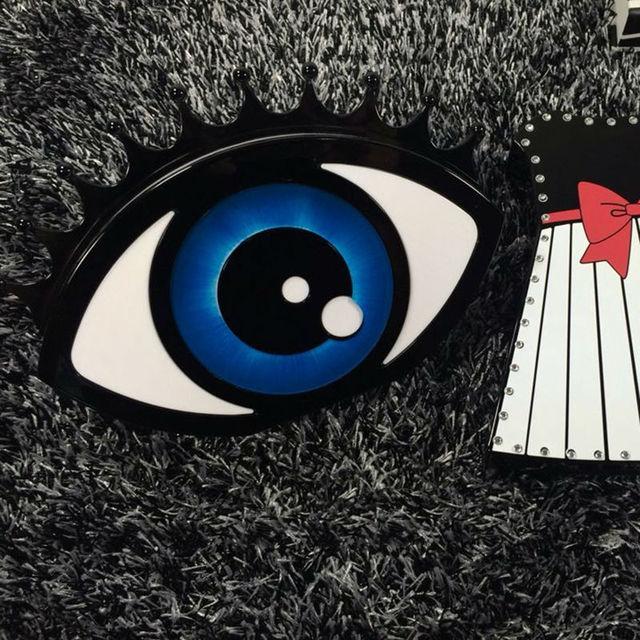 Мода уникальный 2016 пакета(ов) акриловая кирпич блок мешок глазного яблока вечерние сумки женские сумки глаза трехмерной цепи сумка