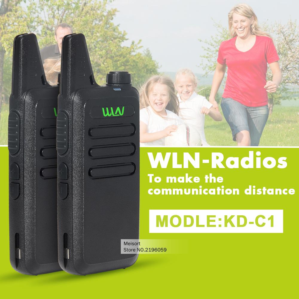 2pcs Portable Radio Walkie Talkie WLN UHF 400-470 MHz MINI HF Transceiver Two Way Radio Communicator For Hunting Radio In moscow(China (Mainland))