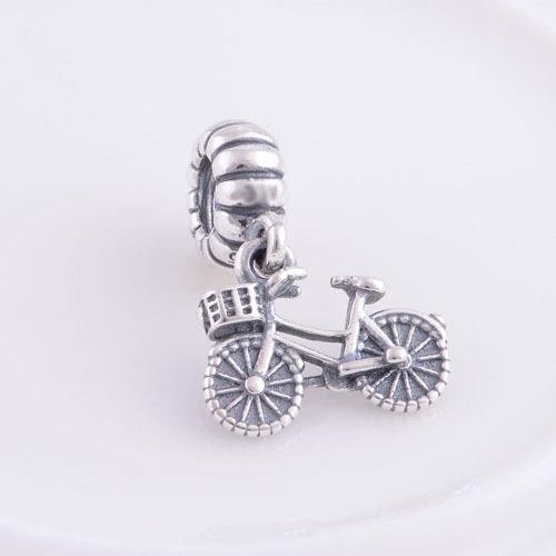 Аутентичные стерлингового серебра 925 винт мотаться бусины велосипед дизайн шарм DIY изготовления ювелирных изделий , пригодный для пандора европейский стиль браслет