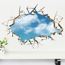 Blue sky 3d wall stickers removable 039 decals home decor art poster - ETop-Store store