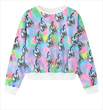 Women Milk Printed Hoodies Autumn Style Digital Printing Hoody Fashion Long Sleeve Sweatshirt Harajuku Pullovers WY0610(China (Mainland))