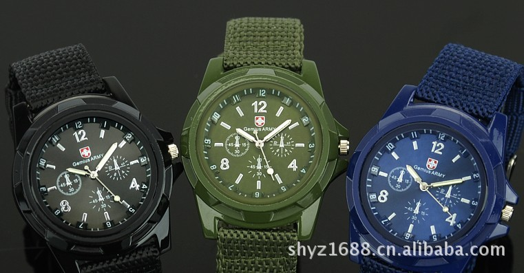 Hot restore ancient ways round canvas woven strap watch Fashion military watches(China (Mainland))