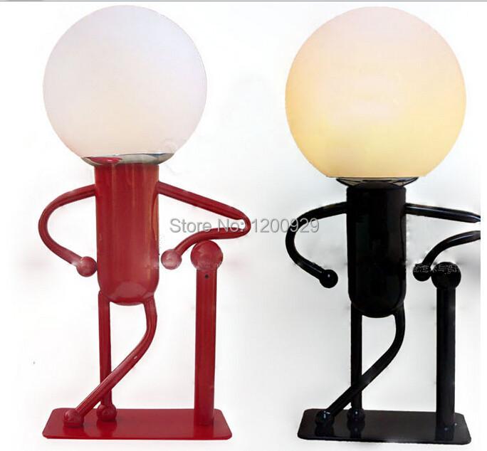 Здесь можно купить  Modern Glass& Metal  Cartoon Boy Table Lamp Home Decoration Creative Lighting Free Shipping  TLL-59  Свет и освещение