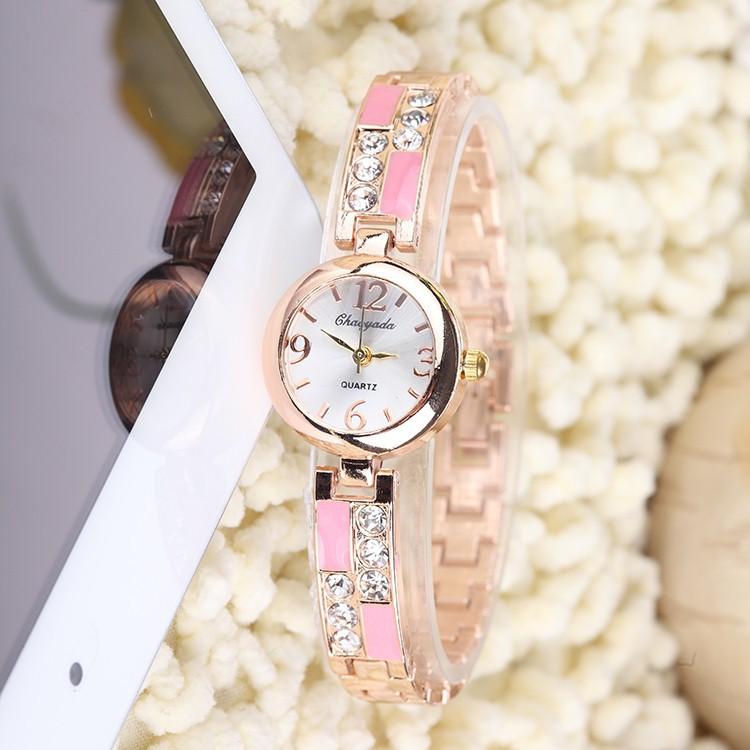 New Women Watches Montre Femme 2016 Wristwatch Rhinestone Rose Gold Ladies Bracelet Watch Quartz Watch Women Watches(China (Mainland))
