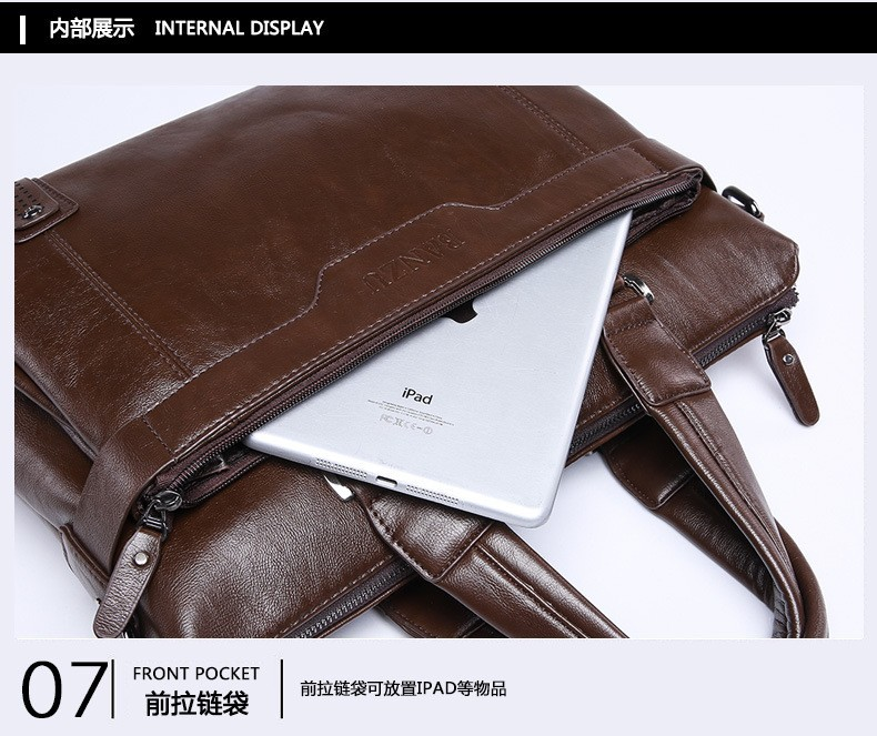 Fashion Tender 2015 Hot Sale New Leather Men Bag Briefcase Handbag
