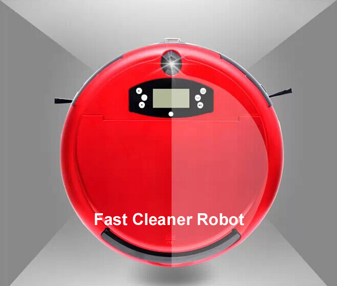 Free Shipping Voice Function Wet and Dry Moping Wet Floor Cleaning Robot With Timer Set,LCD Screen,Two Side Brush,0.7L Dustbin(China (Mainland))
