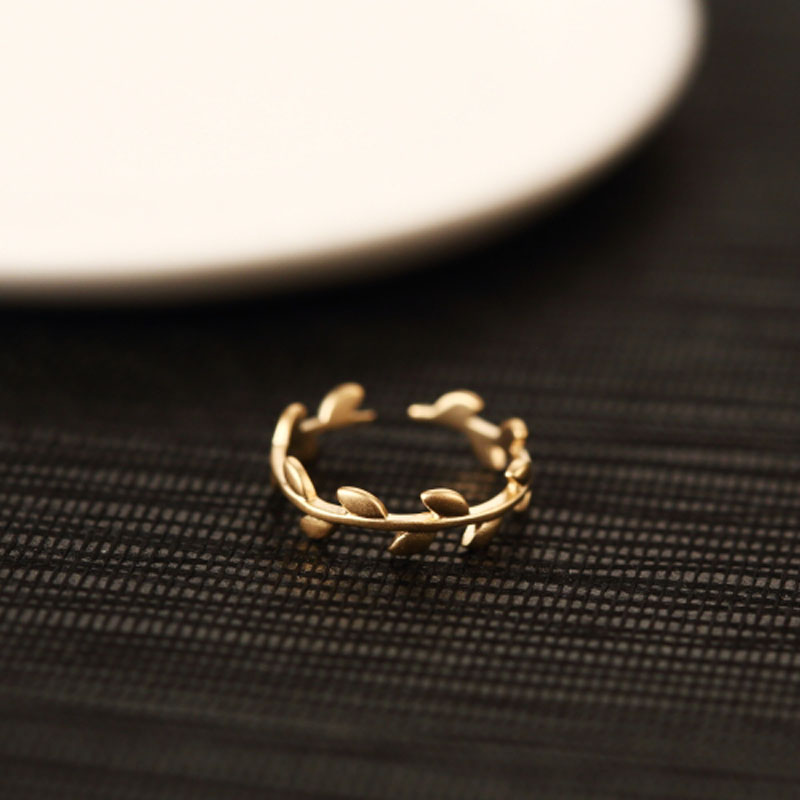 High Quality Fashion Yellow Gold Plated Small Cute Midi Rings For Women Christmas Gift Tail Ring - Red Trees Fine Jewelry(China (Mainland))