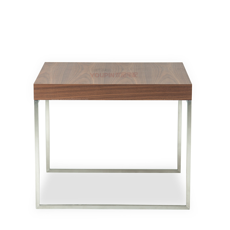 Nordic Style Side Table Black Walnut Coffee Table Stainless Steel Frame Side A Few Modern