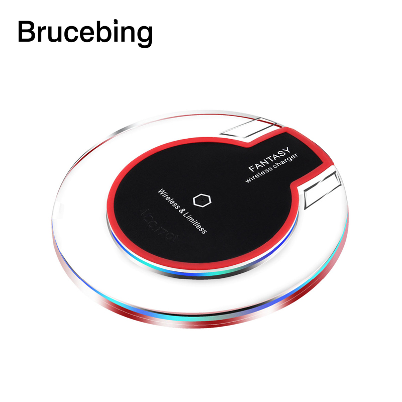 A+ New Round Wireless Charger Charging Pad For Samsung Galaxy S6 Edge S6 Edge+ Plus Lumia 920 HTC 8X LG3(China (Mainland))