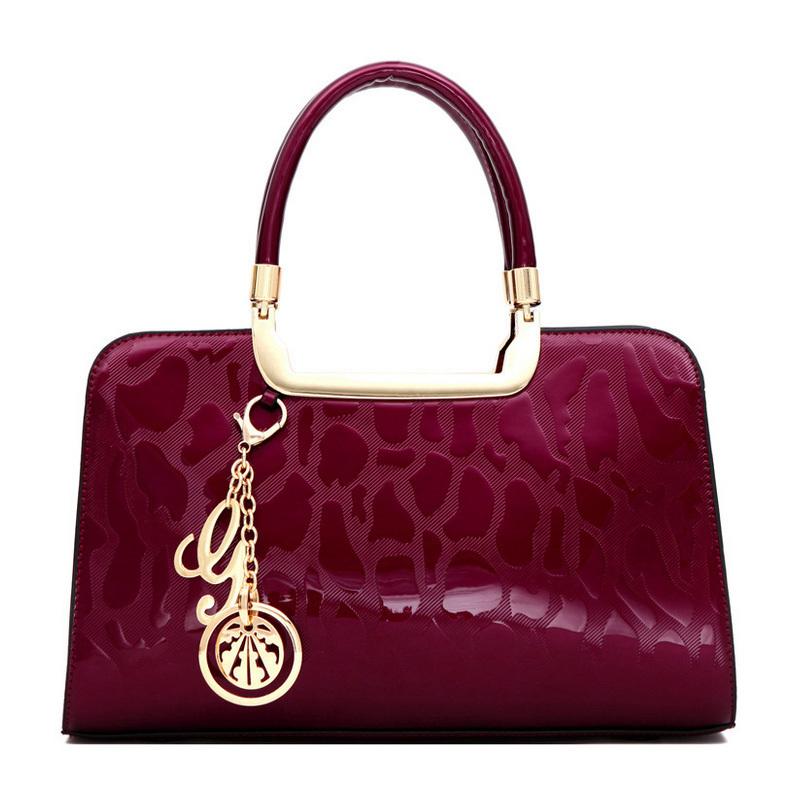Russia style women shoulder bag women handbag crossbody Bags lady patent leather design tote women messenger bag Clutches(China (Mainland))