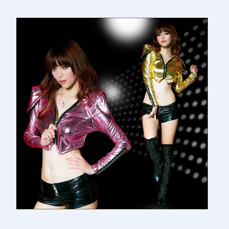 2015Free Shipping Sequin Special design Fashion sexy costume costumes ds paillette fashion female dance clothes(China (Mainland))