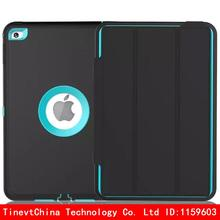 For Apple iPad mini 4 Retina Kids Safe Armor Shockproof Heavy Duty PU+TPU+PC Hard Case Cover free Screen Protector Film(China (Mainland))