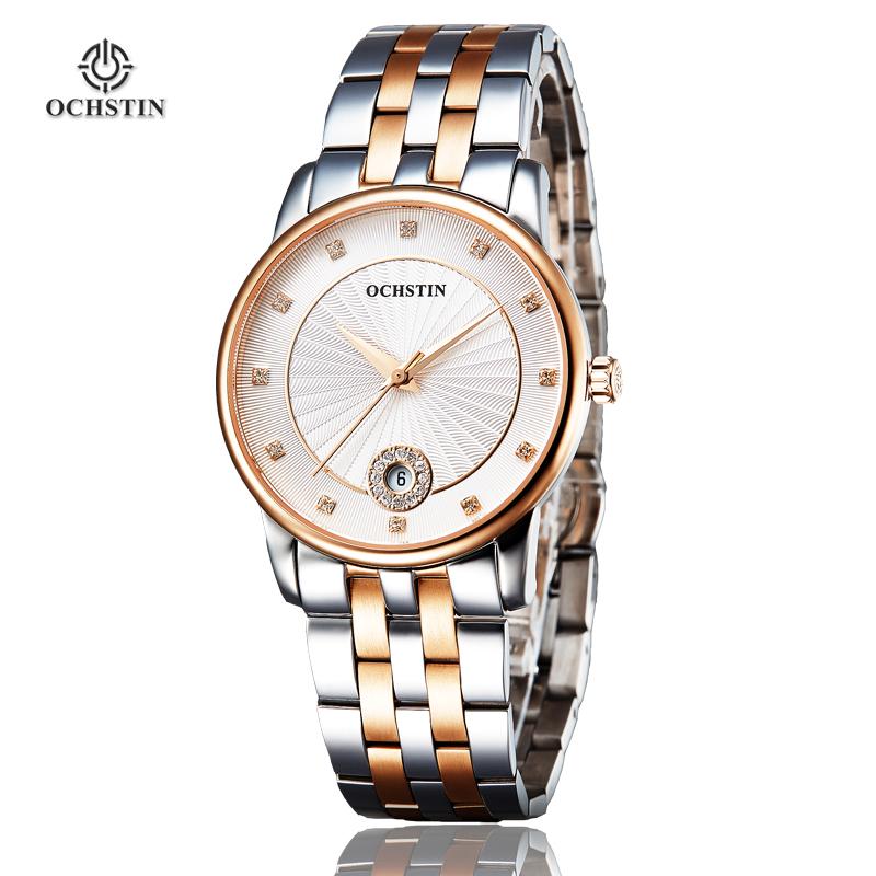 Brand Watch Women OCHSTIN Fashion Sapphire Dress Full Steel Waterproof Quartz Clock Womens Wrist Royal 010 Women Watches 2015(China (Mainland))