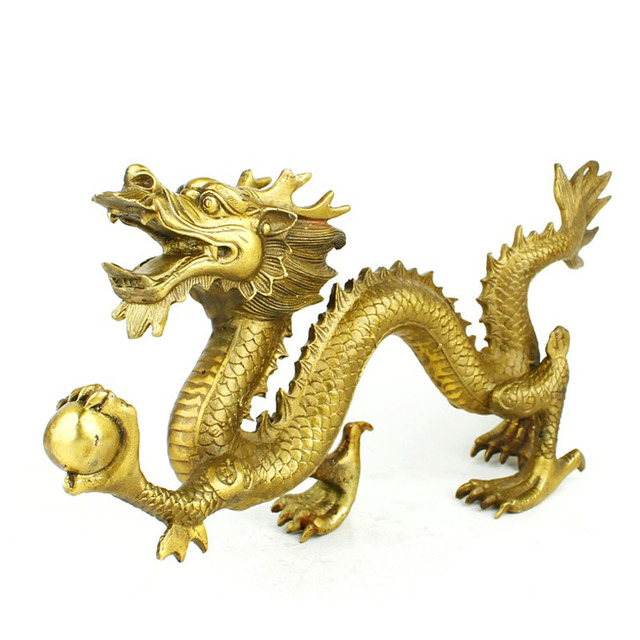 Nongrounded copper Large decoration lucky dragon home decoration bronze decoration