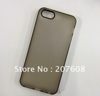 Transparent back case for iphone 5 ,soft TPU skin cover for IP5 ,mutil-colors availible [15pcs/lot]