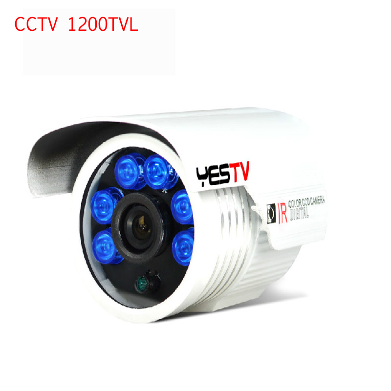 1200TVL Security Camera CCTV Surveillance Camera HD CMOS IR-Cut  Infrared Led Nerwork Outdoor CCTV Camera With Bracket