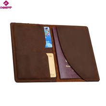 Buy DDOLVE Vintage Men Genuine Leather Passport Cover Travel Passport Holder Bag Passport Case Wallet License Credit Card Holder for $8.37 in AliExpress store