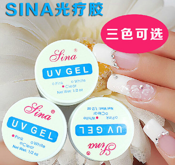 1PCS X Pink / White / Clear Transparent 3 Color Options UV Gel Builder Nail Art Tips Gel Nail Manicure Extension MK0153(China (Mainland))
