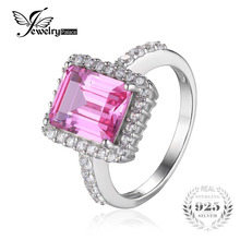 Buy JewelryPalace luxury 4.88ct Created Pink Sapphire Engagement Ring Solid Charm 925 Sterling-Silver-Jewelry Women 2017 Fashion for $11.99 in AliExpress store