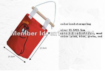 HOT 5pcs/lot New fashion Oxford Fabric household creative wall storage bag hang bag