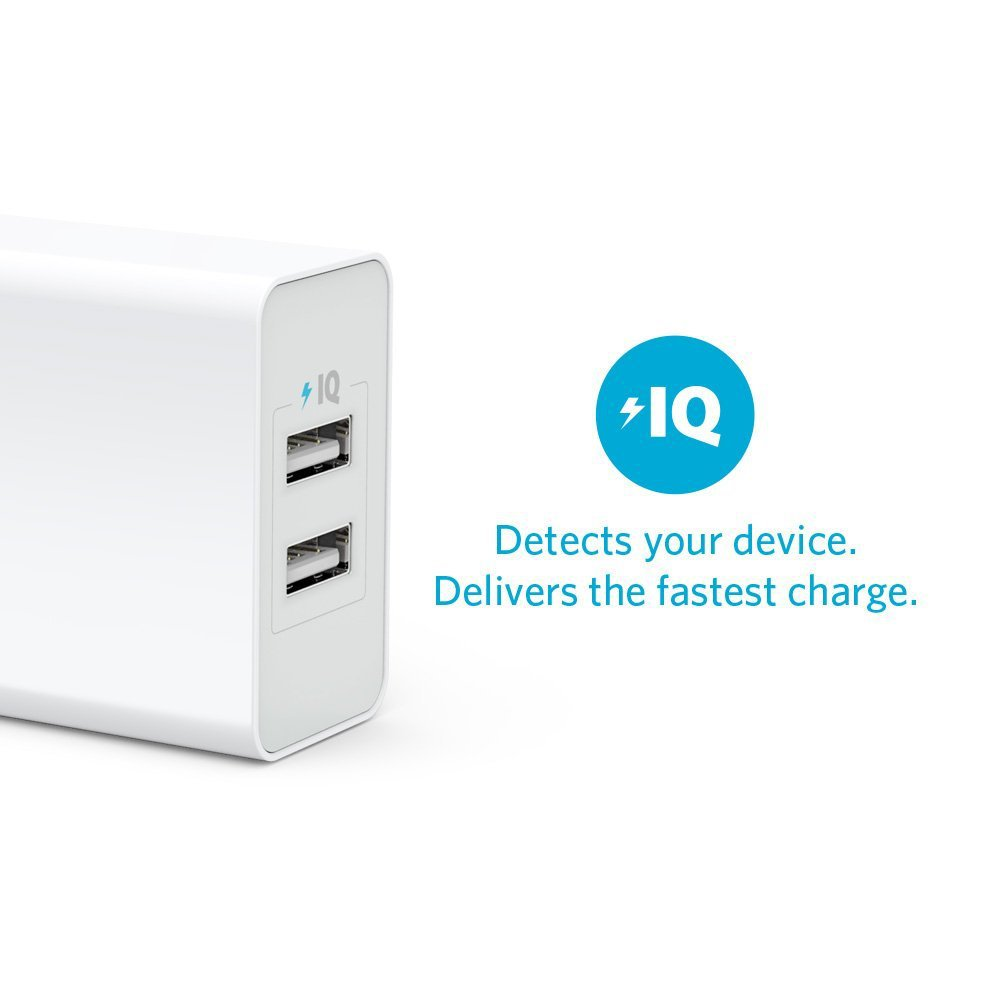 Promotion!Anker wall charger dual usb port 20W with power iq fast charging quick charge for iphone ipad samsung travel charger(China (Mainland))