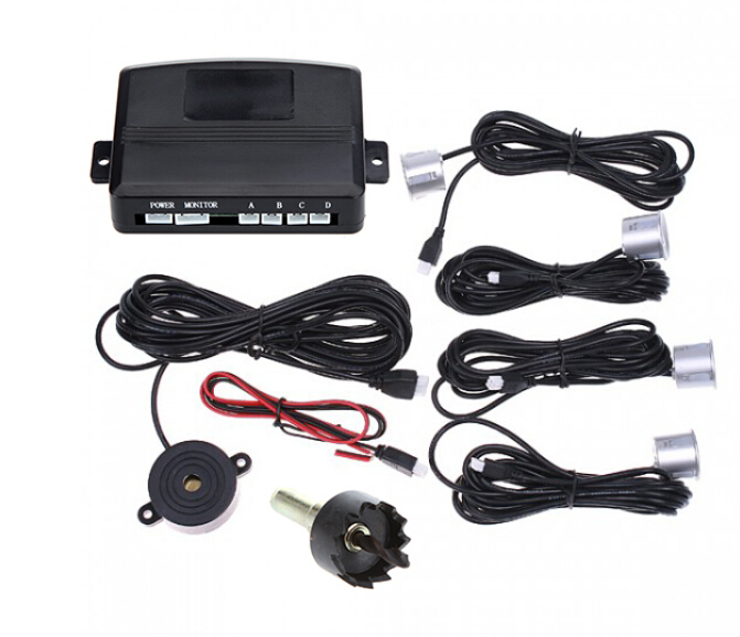 KIT 4 Parking Sensors Auto Car Rear Reversing Reverse Backup Radar Sound Alert(China (Mainland))