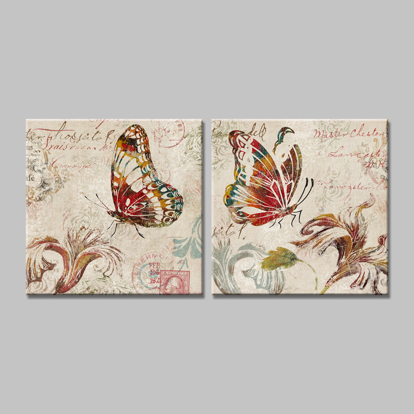 2015 cuadros decoracion butterfly canvas painting prints for Cuadros de decoracion