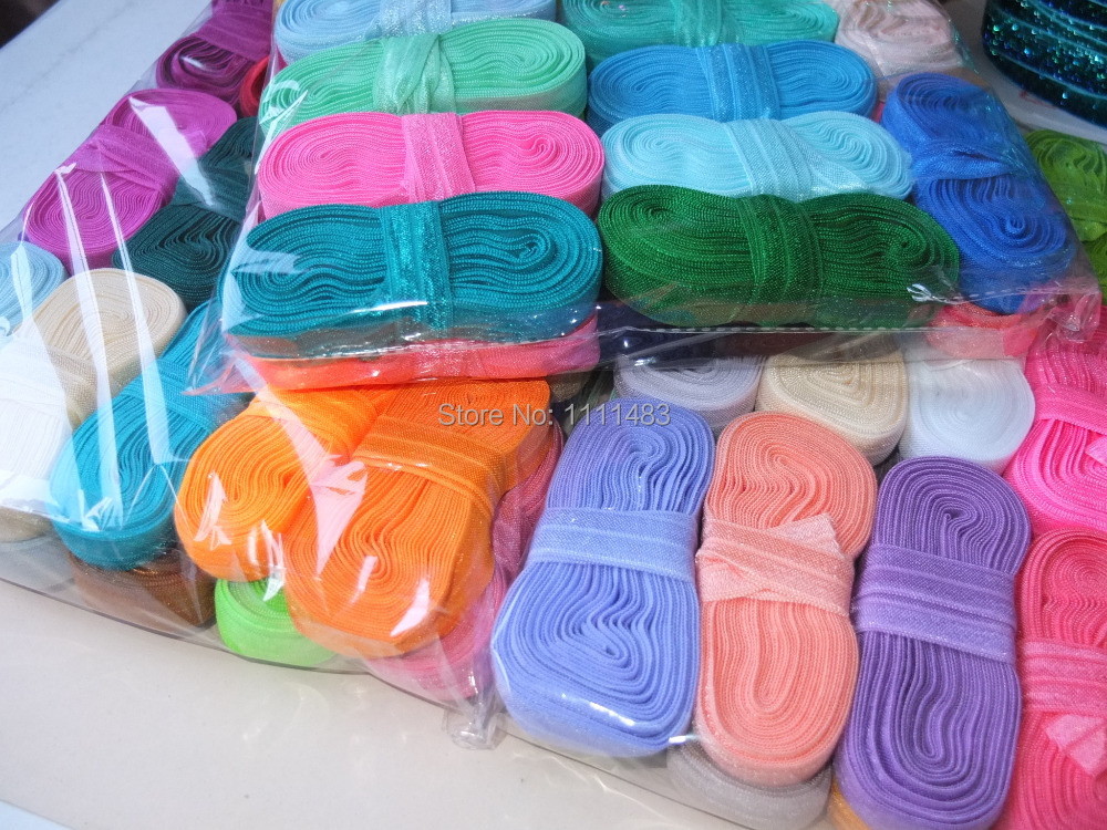 5/8″ 16mm FOE, Fold over elastic, 80 colors for your choice, 10 yards roll