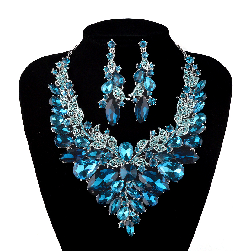 Champagne jewelry sets : Aliexpress buy indian jewellery turquoise blue