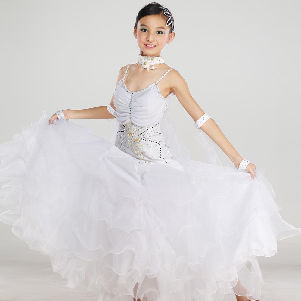 Acheter moderne robe de danse enfant robe - Danse de salon enfant ...