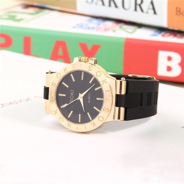 Ms silicone watch quartz watch SOKI leisure brand watch